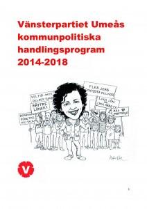 Framsida Kommunpolitiskt handlingsprogram 2014-18